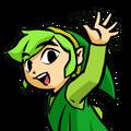 TFH Link verde saludando