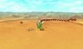 Link peleando contra Twinmold usando la Máscara de Gigante en MM 3D