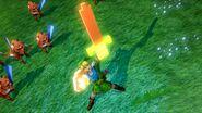 Link con la Espada y el Escudo de Madera 1 HW