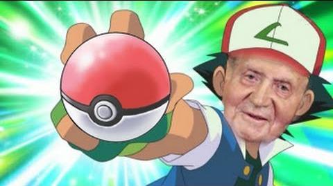 SM el Rey Juan Carlos, quiere ser entrenador Pokémon POOP