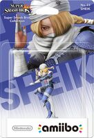 Embalaje europeo del amiibo de Sheik - Serie Super Smash Bros.