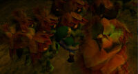 Link siendo maldecido MM