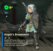 Breath of the Wild Knight's Equipment Knight's Broadsword (Inventory)
