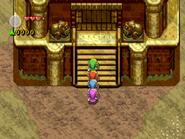 Link entrando en la Torre de las Llamas FSA