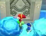 Link usando el Cetro de Agua