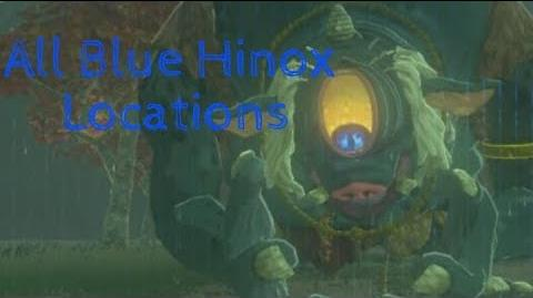 The Legend of Zelda- Breath of the Wild- All Blue Hinox Locations