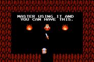 El anciano te dejará la espada mágica