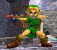 Young Link Flecha de fuego SSBM