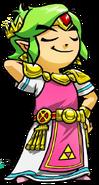 Artwork Link vestido Zelda TFH