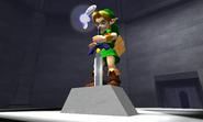 Link Espada Maestra Pedestal Tiempo OoT