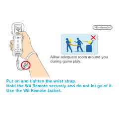 Schermata d'avvertenza per l'uso del Telecomando Wii