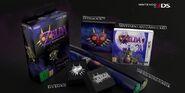 Caja y contenido de la edición especial europea The Legend of Zelda Majora's Mask 3D