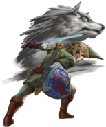 Twilight Princess HD Artwork Link & Wolf Link (Official Artwork)
