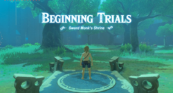 Breath of the Wild EX Trial of the Sword Sword Monk's Shrine (Beginning Trials)