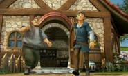 Hyrule Warriors Legends Linkle's Tale Villagers watch as Linkle leaves for Hyrule Castle (Cutscene)