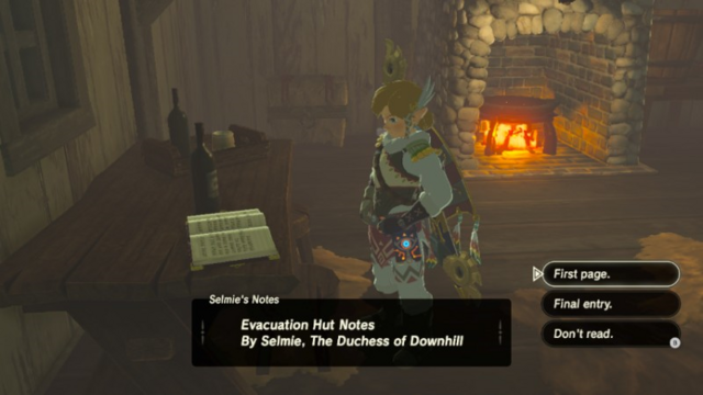 File:Breath of the Wild Hebra Trailhead Lodge Selmie's Notes (Hebra Mountains).png
