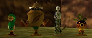 Estatuas de Link de la Elegía al Vacío MM
