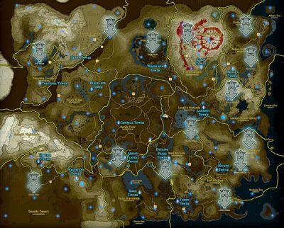 Localización de las Estatuas de la diosa en BotW