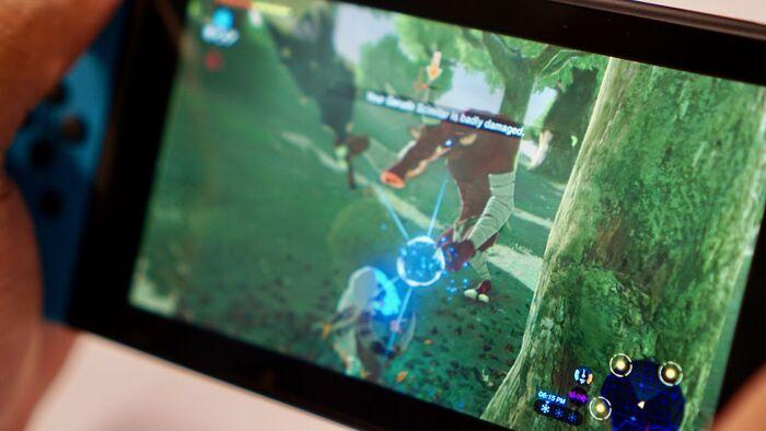 Zelda breath of the screen pantalla