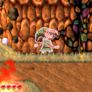 Link fugge da Taros attraverso varco nel muro