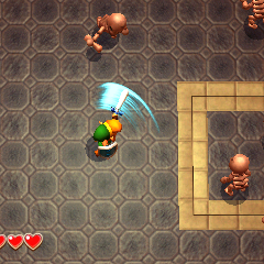 Link combatte contro gli Stalfos