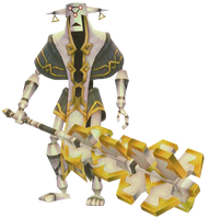 Skyward Sword Guardian Mace Guardian - Active (Render)
