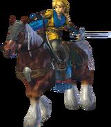 Link montando a Epona HW
