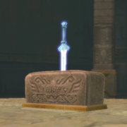 Goddess Sword in Pedestal