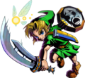 Majora's Mask 3D Link Razor Sword & Mirror Shield (Artwork)