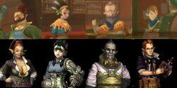 Comparativa del Grupo y los personajes de SS