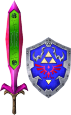 Great Fairy's Sword and Hylian Shield (Soul Calibur II)