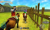Link en una carrera contra Ingo