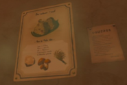 Breath of the Wild Recipe (Poster) Spicy Mushroom Rice Balls (East Wind)