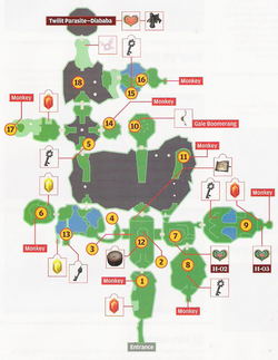 Forest Temple Map (Twilight Princess)
