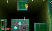 Link lanzando una flecha ALBW