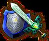 Espada Ligera Toon Link Trenebunda Escudo Espejo HW