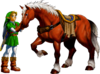 Link and Epona (Ocarina of Time)