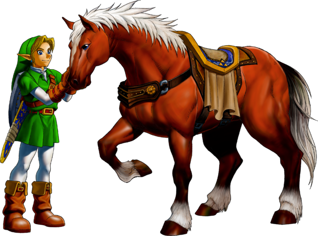 Файл:Link and Epona (Ocarina of Time).png