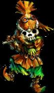 Skull Kid con la Máscara de Calavera artwork OoT