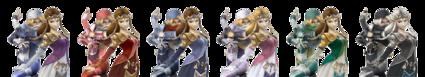 Distintas Sheik Zelda SSBB