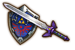 Hyrule Warriors Legendary Blade of Evil's Bane Master Sword (with Hylian Shield)