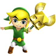 Hyrule Warriors Legends Toon Link Sand Wand (Render)