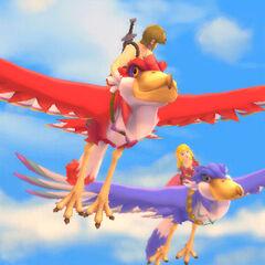 Link e Zelda volano