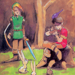 Link and the Flute Boy