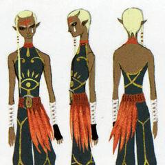 Concept art di Impa da <i>Hyrule Historia</i>
