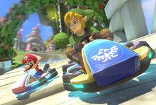 Link en Mario Kart 8