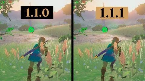 Zelda Breath of The Wild 1.1.0 VS 1.1