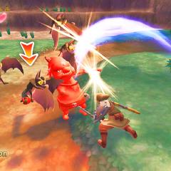 Link combatte contro i Boblin e i Keese