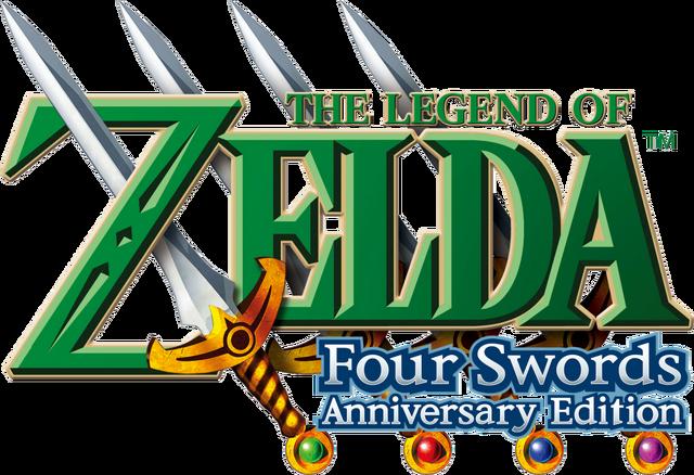 File:The Legend of Zelda - Four Swords Anniversary Edition (logo).png