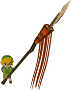 The Wind Waker Toon Link Long Spear (Render)